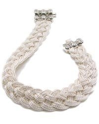 Turks Head knot sterling silver bracelet by Anatoli