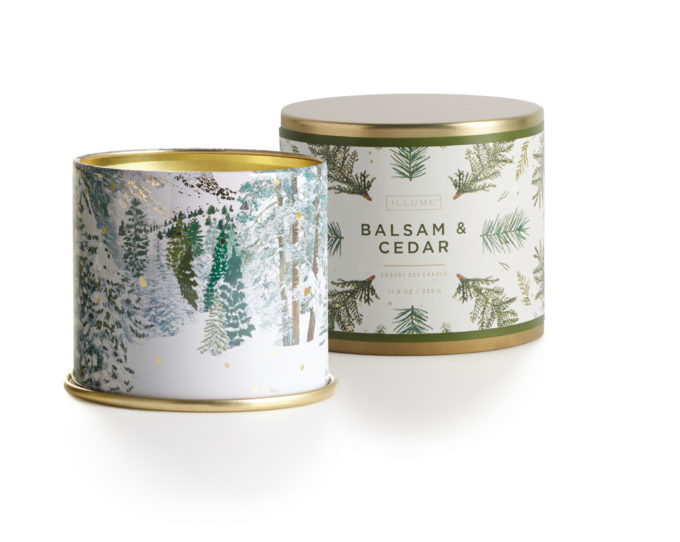 balsam and cedar candle by Illume Candleworks
