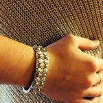 gold bead and sterling silver bracelet (final sale)-0