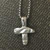 cast sterling silver cross
