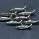 sterling silver fish school pin