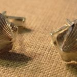 Chatham scallop shell sterling cuff links