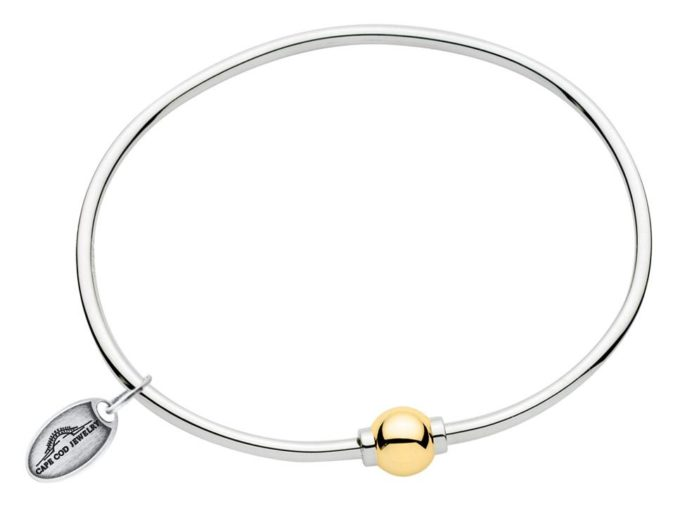 The Cape Cod Bracelet ™ (sterling silver & 14kt yellow gold)