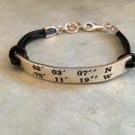 LANDMARK COORDINATES™ Cape & Islands original stamped design bracelets