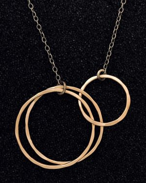 three ring necklace by J&I