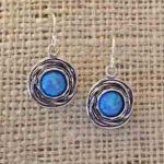 opals in sterling birds nest earrings by Tamir Zuman