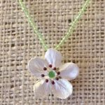 """Survivor Tree"" callery pear leaves necklace by Silver Seasons-0"