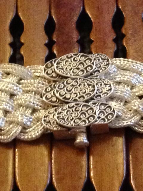 Turks Head Knot sterling silver choker necklace by Anatoli-709