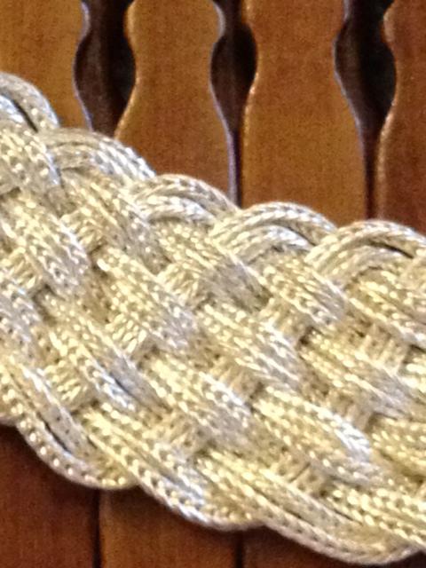 Turks Head Knot sterling silver choker necklace by Anatoli-708