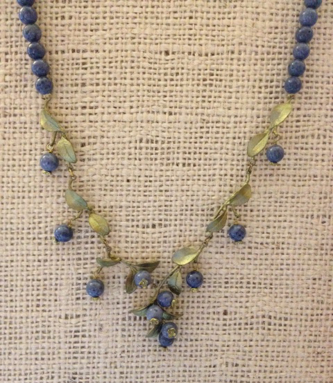 blueberry drop necklace by Michael Michaud