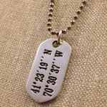 LANDMARK COORDINATES™ stamped sterling silver tag, large, on stainless keyring or chain-0