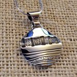 sterling silver ancient design pendant-0