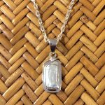 biwa pearl in sterling setting pendant