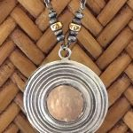 copper & silver target necklace by j&i-0