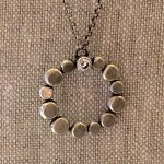 circle with a CZ necklace by j&i-0