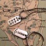 LANDMARK COORDINATES™ stamped sterling tags - key ring or chain