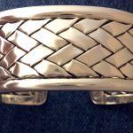 basketweave sterling cuff