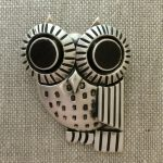 Owl pin/pendant in sterling silver