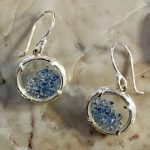 Blue Topaz crystals under glass earrings by Catherine Weitzman