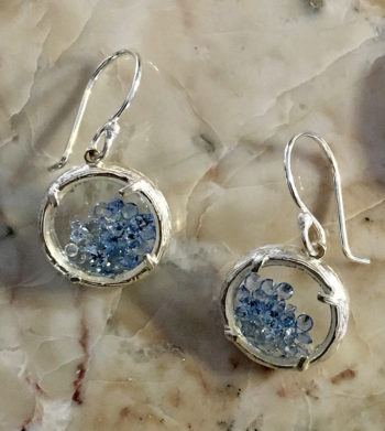 2f8e3f9e7 Blue Topaz crystals under glass earrings by Catherine Weitzman