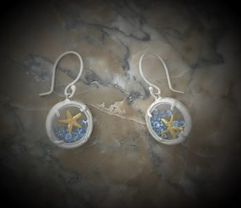 623279afb Mini Glass Branch With Sea Star Earring by Catherine Weitzman
