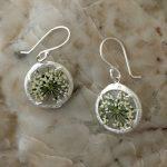 mini glass branch earrings by Catherine Weitzman