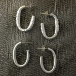 Basic sterling silver J-hoop earrings