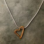 14kt open heart by Ithil Metalworks