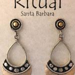 dotted shield earrings by Ritual