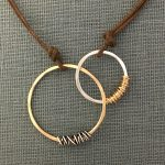 gold & silver wrapped hoops necklace by j&i