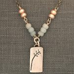 Amazonite and pearl necklace by j&i