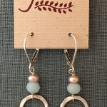 circle drop with amazonite earrings by j&i