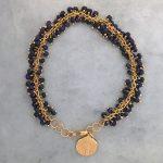 Fringe lapis bracelet