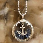 Mini shaker and silver anchor by Catherine Weitzman