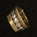 Double brass and sterling ring by Ritual Jewelry