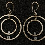 Double circles w/blue topaz by Ritual Jewelry