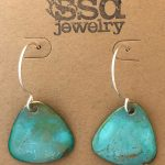 convex triangle earrings by SSD