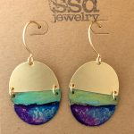 watercolor patina earrings by SSD