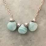 3-bead amazonite necklace from Alicia Van Fleteren
