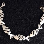 abstract fish sterling bracelet