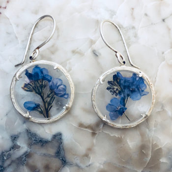 ce0af88bc forget me not silver earrings by Catherine Weitzman