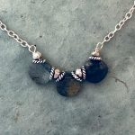 3-bead labradorite necklace by Alicia Van Fleteren