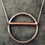 cross bar necklace by j&i