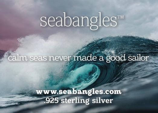 calm seas never made a good sailor, rough seas picture seabangle card