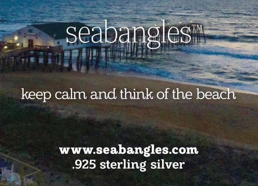 keep calm and think of the beach bangle