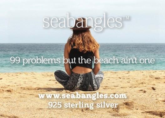 99 problems but the beach ain't one seabangles card woman on beach