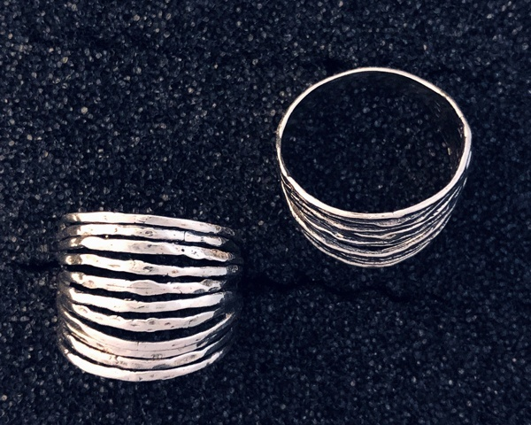 Fanned Sterling Ring