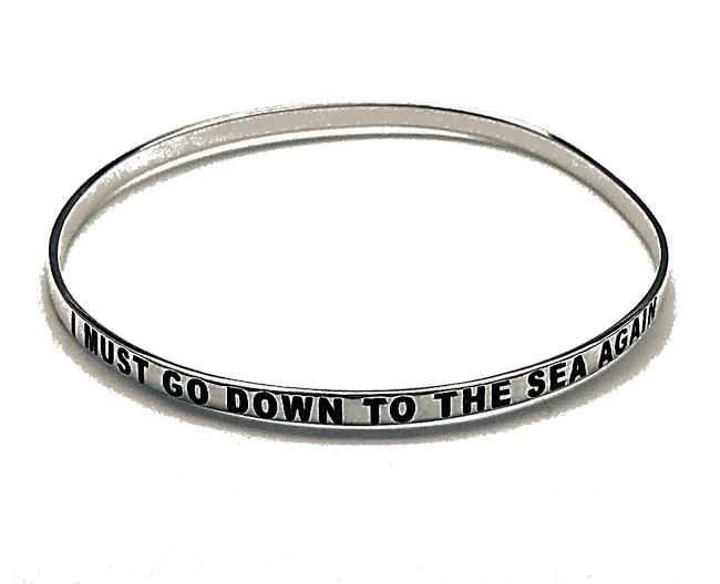 I must go down to the sea again seabangle bracelet