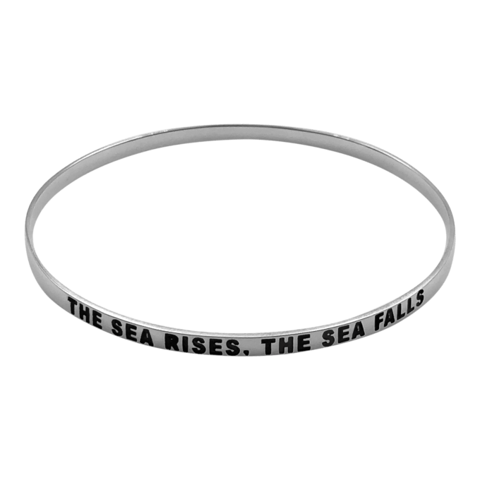 """The Sea Rises, The Sea Falls"" Bangle Bracelet by seabangles ™"