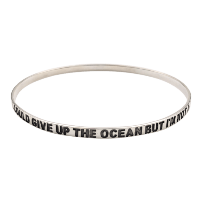 I Could Give Up The Ocean But I'm Not A Quitter Bangle Bracelet by seabangles ™